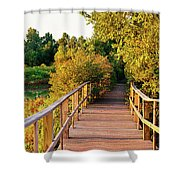 Boardwalk In A Forest, Magee Marsh Shower Curtain
