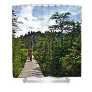 Boardwalk In Salmonier Nature Park-nl Shower Curtain