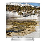 Boardwalk In The Park Shower Curtain
