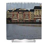 Boardwalk Panorama Walt Disney World Shower Curtain