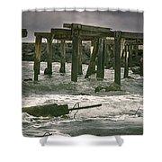 Boardwalk Remnants Shower Curtain