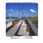 Boardwalk To Paradise Shower Curtain