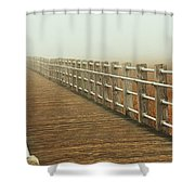 Boardwalk To The Unknown Shower Curtain