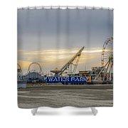 Boardwalk Waterpark Wildwood New Jersey Shower Curtain