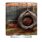 Boat - Abstract - It Was A Good Year Shower Curtain by Mike Savad
