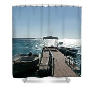 Boat At The Peer Shower Curtain