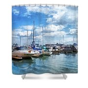 Boat - Boat Basin Fells Point Shower Curtain