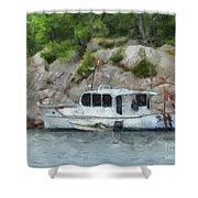 Boat Break Shower Curtain