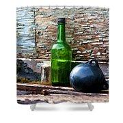 Boat Deck Still Life Shower Curtain