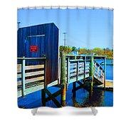 Boat Dock In Rhode Island Shower Curtain