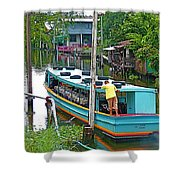 Boat For Transportation On Canals In Bangkok-thailand Shower Curtain