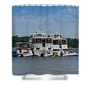 Boating Buddies Shower Curtain
