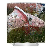 Boat Graveyard Peurto Natales Chile 6 Shower Curtain