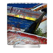 Boat Graveyard Peurto Natales Chile 7 Shower Curtain