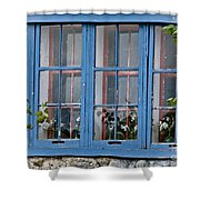 Boat House Windows Shower Curtain