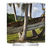 Boat In A Tree Puerto Rico Shower Curtain