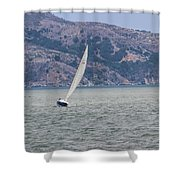 Boat- In Color Shower Curtain