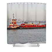 Boat Meet Barge Shower Curtain