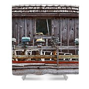Boat Motors Going Nowhere Shower Curtain