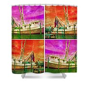 Boat Of A Different Color Shower Curtain