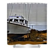 Boat Out Of Water Shower Curtain