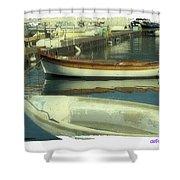 Boat Pier Shower Curtain