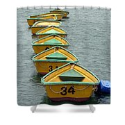 Dingy Boat Rentals Shower Curtain