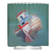 Boat Retired  Tavira Shower Curtain