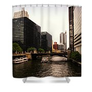 Boat Ride On The Chicago River Shower Curtain