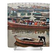 The Journey - Varanasi India Shower Curtain