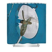 Boat Rudder Shower Curtain
