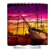 Boat - Sailing - Fleet Week Shower Curtain by Mike Savad