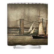 Boat - Sailing - Govenors Island Ny - Clipper City Shower Curtain