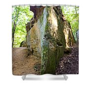 Boat-shaped Rock Wildcat Den State Park Shower Curtain