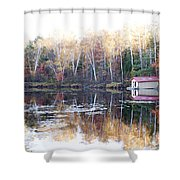 Boat Shed  Shower Curtain