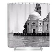Boat To Murano Shower Curtain