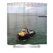 Boat - Tugboat Barbados II Shower Curtain
