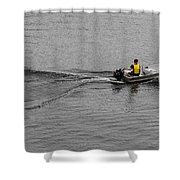 Boat Wake Shower Curtain
