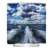 Boat Wake Photo Art 02 Shower Curtain