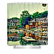 Boathouse Color Shower Curtain