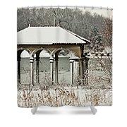 Boathouse Pavilion Shower Curtain