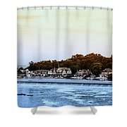 Boathouse Row And Farmount Dam Shower Curtain