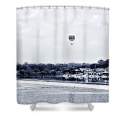 Boathouse Row And The Zoo Balloon Shower Curtain