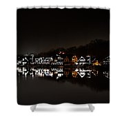 Boathouse Row At Night Shower Curtain