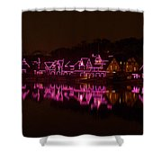 Boathouse Row In Pink Shower Curtain