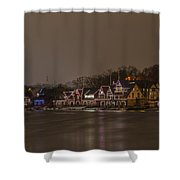 Boathouse Row In The Evening Shower Curtain