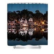 Boathouse Row Panorama Shower Curtain