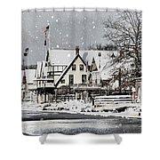 Boathouse Snow Shower Curtain