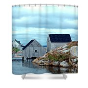 Boathouses Shower Curtain