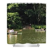Boating In Central Park Shower Curtain